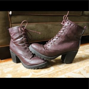 Zigi Soho Purple Burgundy Zip Boot High Heel Boots